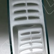Lunotto posteriore Ferrari F40 e F50 termoformato in policarbonato trattato antigraffio.